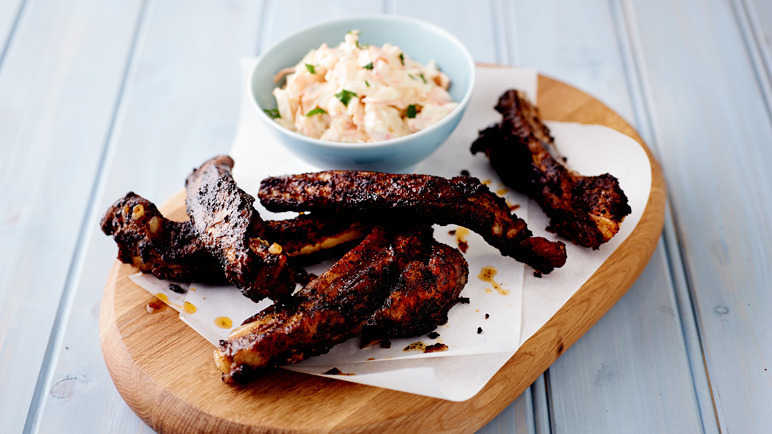 'Sticky wicket' coffee rubbed ribs recipe