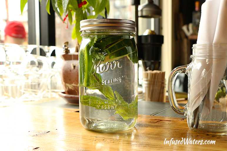 Cucumber jalapeno mint water