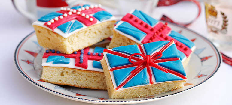 Celebration flag traybake