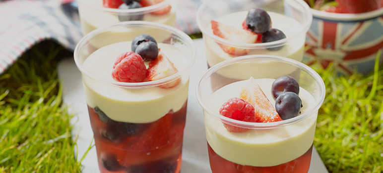 Summer berry and white chocolate jellies