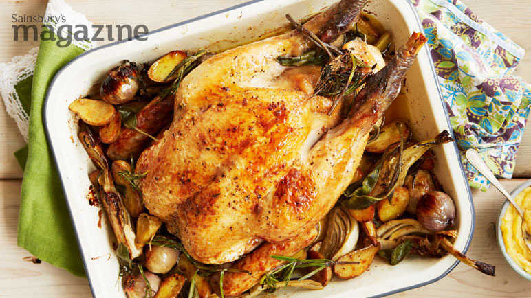 Image: All-in-one roast chicken with aioli