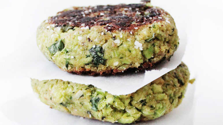 The Ultimate Green Burger w/ Avocado & Mint Dressing recipe