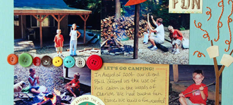 Camp scrapbook