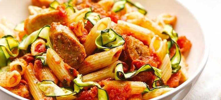 Sausage and courgette pasta
