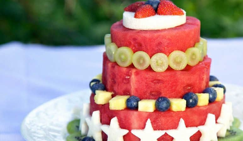 Watermelon wedding cake
