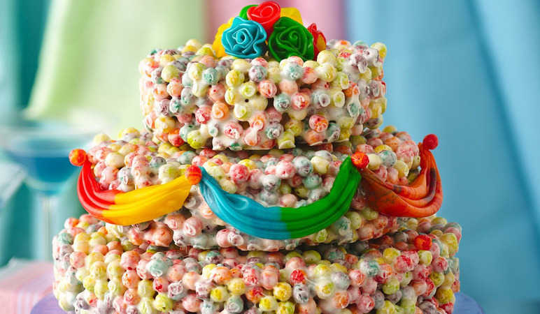 10. Cereal wedding layer cake