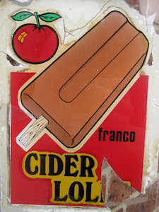 Cider lolly