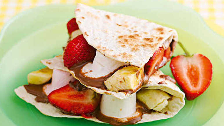 Fruity mallow wraps recipe