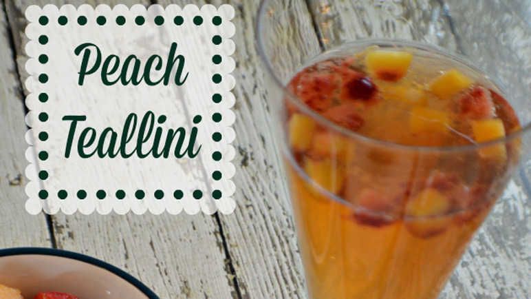 Peach tea bellini