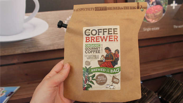 Brew in the bag coffee