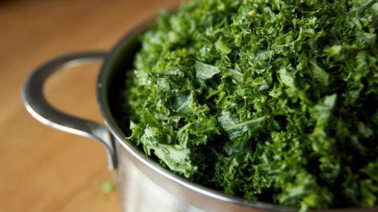 Pot of kale