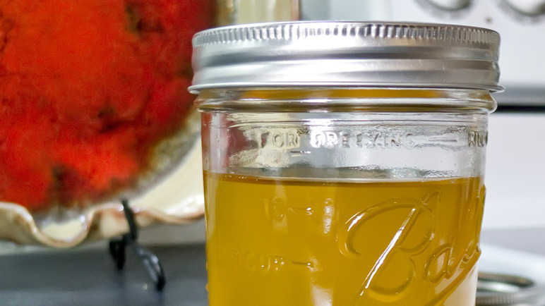 Clarified butter also known as ghee