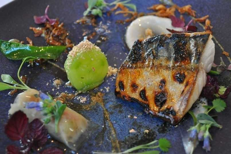 Ledbury's flame grilled mackerel