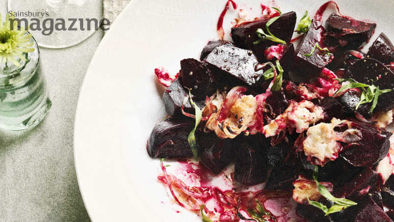 Image: Warm beetroot with goats' cheese