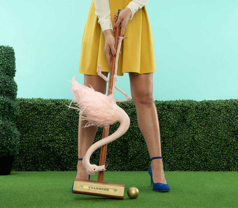 Chambord flamingo croquet