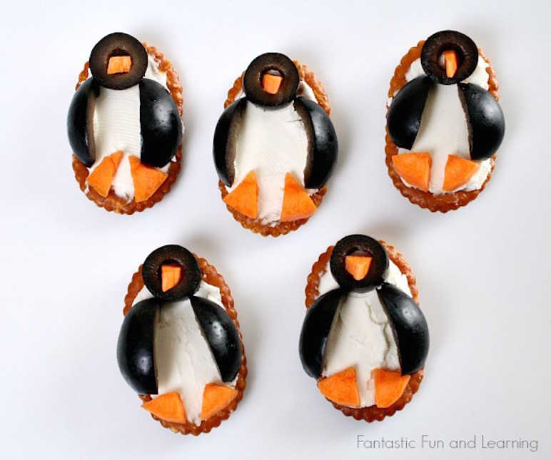 Penguin olive crackers