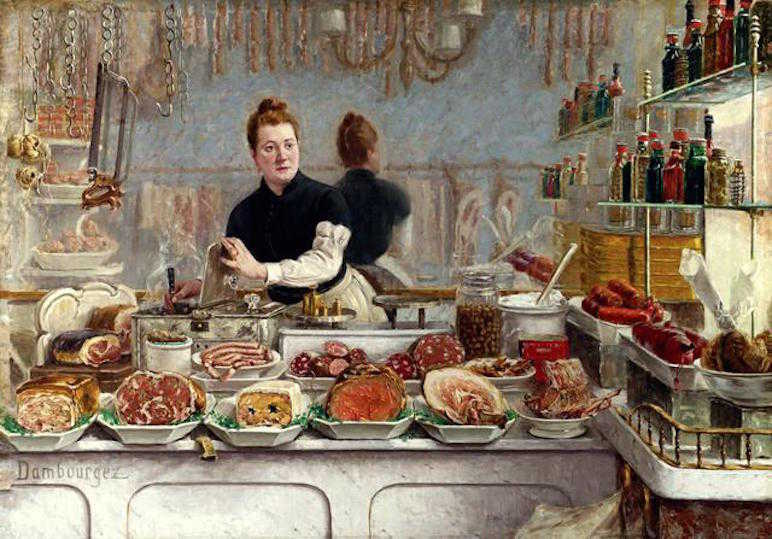 Victorian meat stall