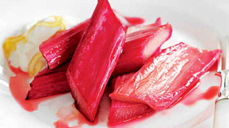 maple-syrup-covered-rhubarb-homemade
