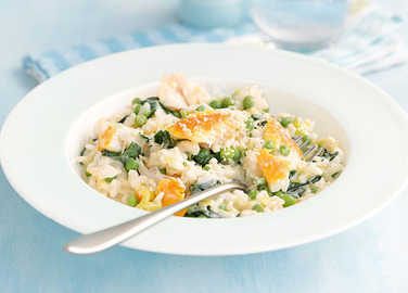 Smoked haddock & spinach risotto