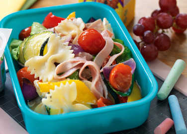 Roasted vegetable & ham pasta salad image