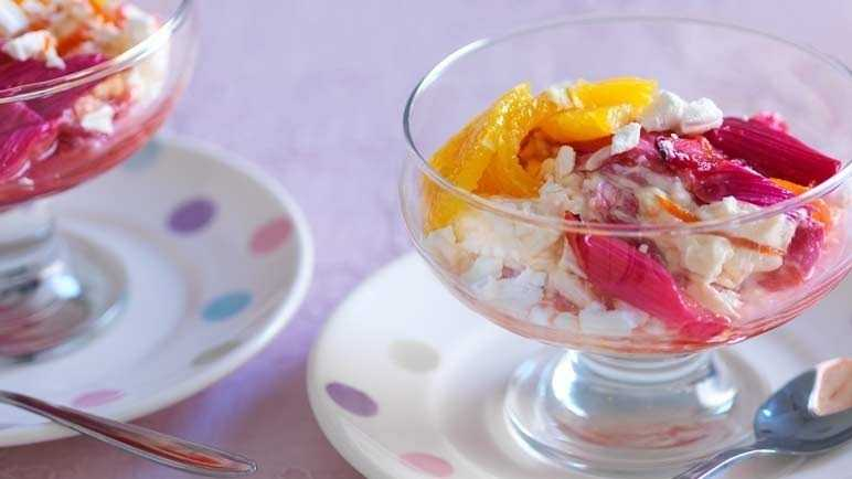 Rhubarb and orange eton mess image