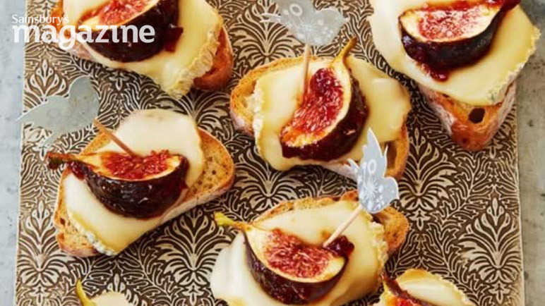 Taleggio fig party bites
