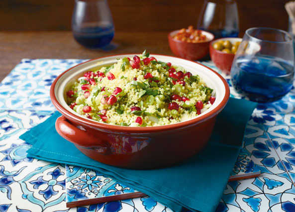 Pomegranate and herb couscou image
