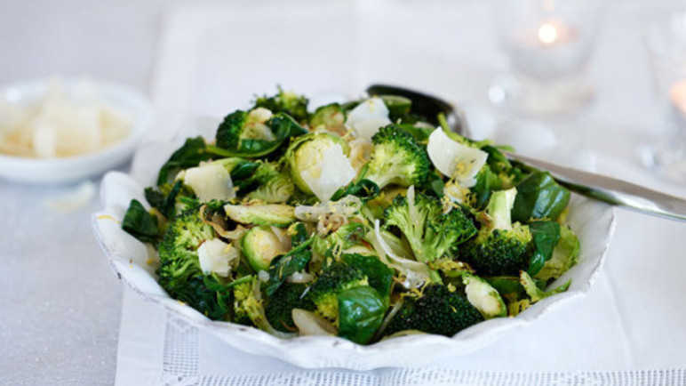 Pan-fried greens