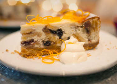 Mince pie baked cheesecak image