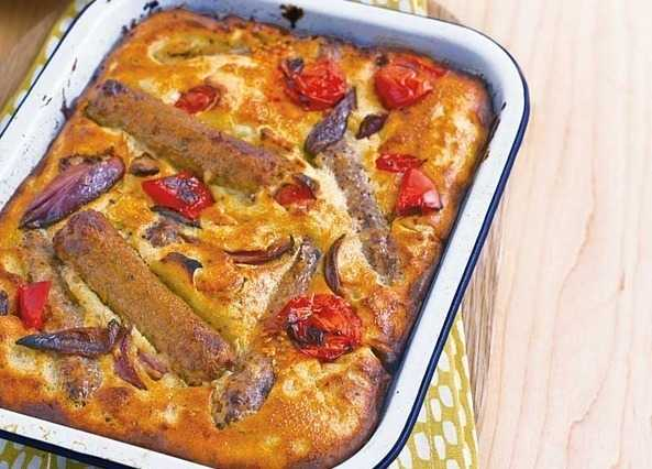 Meat-free toad in the hole