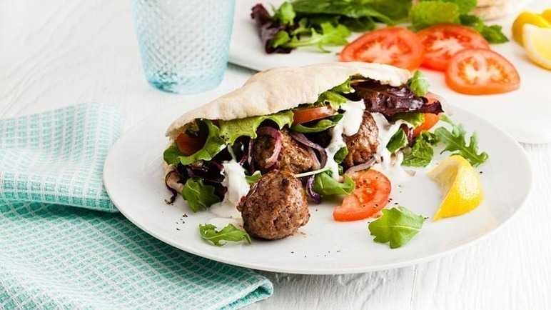 Lamb meatball pitta pocket image