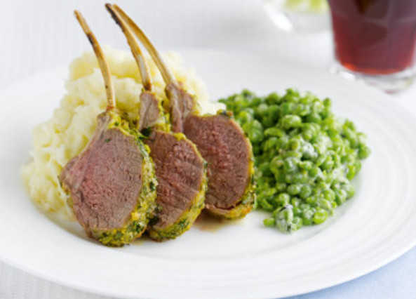 Herb-crusted rack of lam image