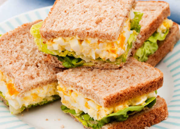 Egg mayonnaise sandwic image