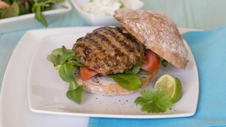 Freefrom thai pork burger image