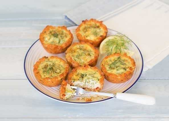 Freefrom red salmon and dill tartlet image