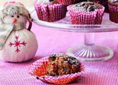 Cranberry & gingerbread muffin image