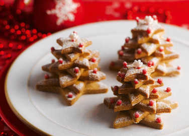 Christmas tree biscuit image
