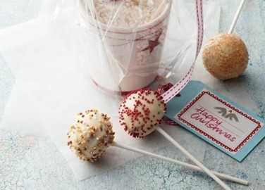 Christmas bauble cake pop image