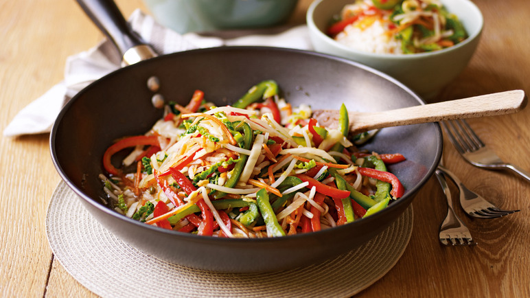Chinese vegetable stir fry image