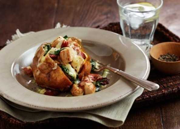 Chicken & bacon jacket potato fille image