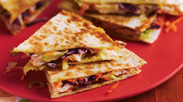 Cheesy chicken quesadill image