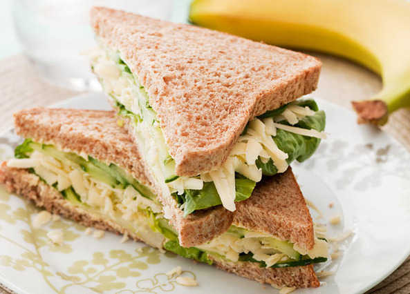 Recipe: Cheese and cucumber sandwich | Sainsbury's