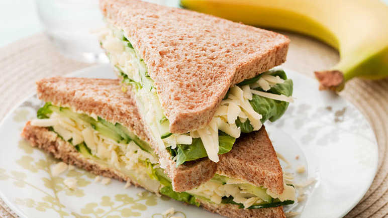 Cheese & cucumber sandwic image