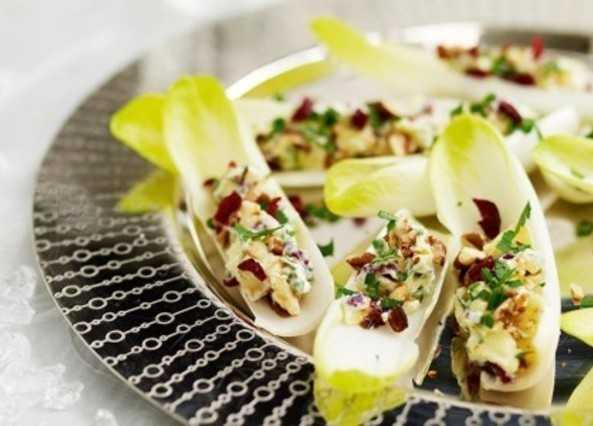 Recipe cambozola chicory and cranberry canap s sainsbury 39 s for Canape vegan