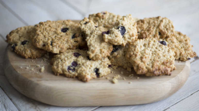 Blueberry oaty cookie image