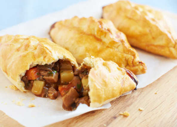 Beef and root vegetable pasties