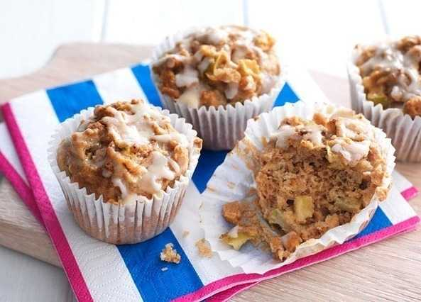 Apple, maple and cinnamon muffin image