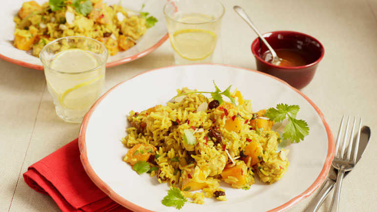 Chicken and butternut squash biryani image