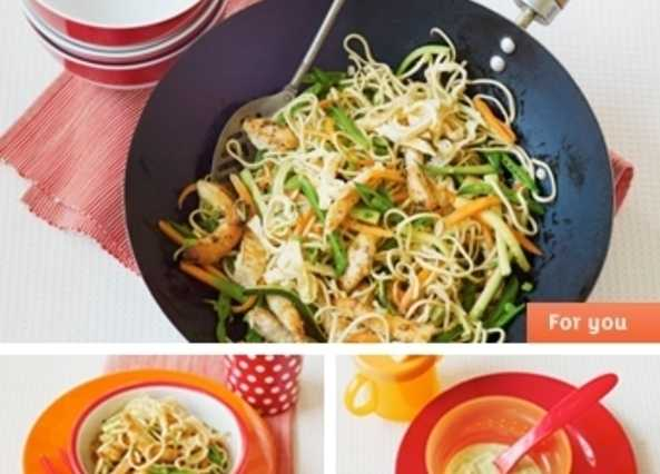 Sesame chicken noodle stir-fry