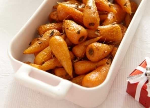 Roast carrots with fennel seeds and thym image